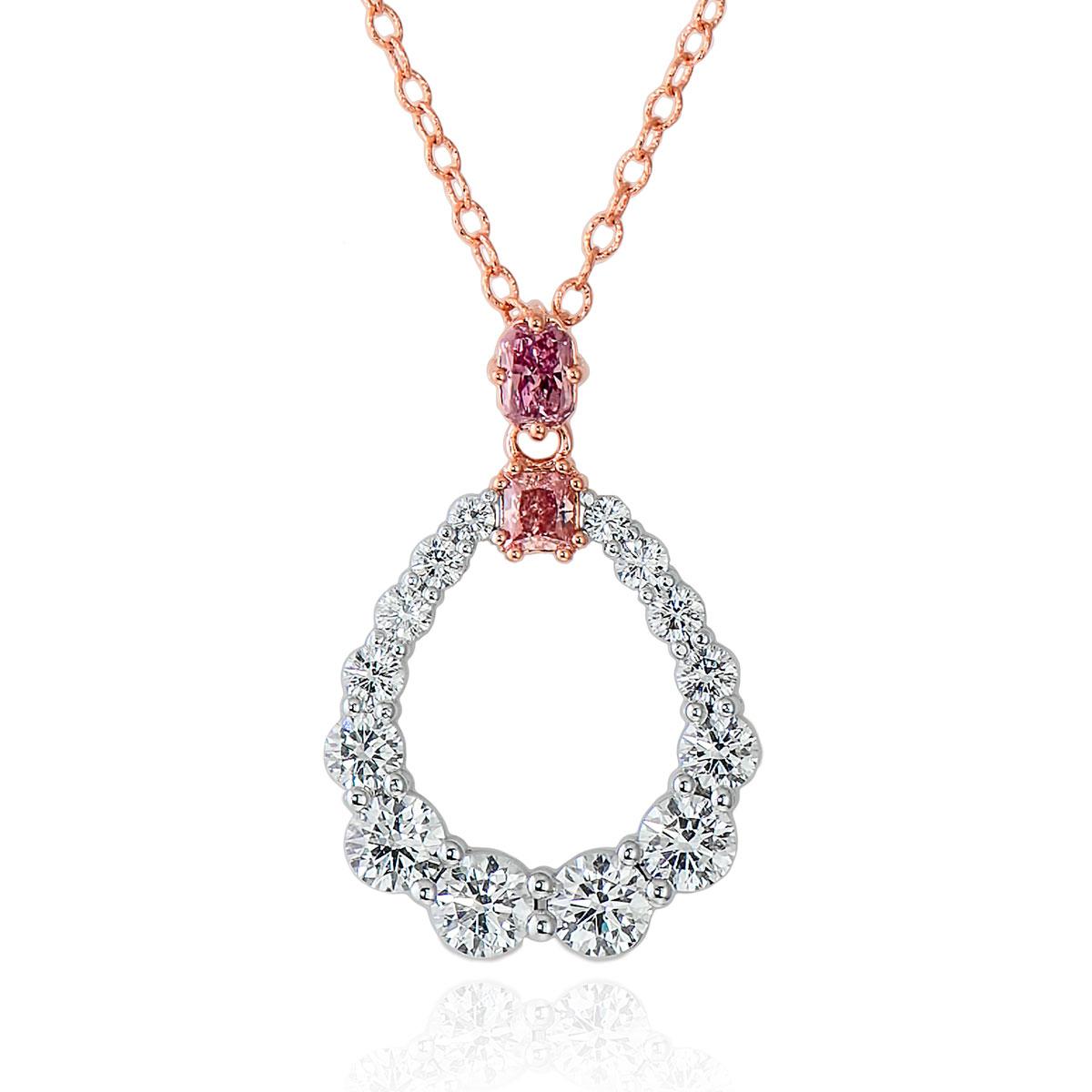 0.44ct (Argyle) Fancy Intense Purplish Pink & 0.35ct (Argyle) Fancy Intense Pink Diamond Pendant (4.15ct TW)