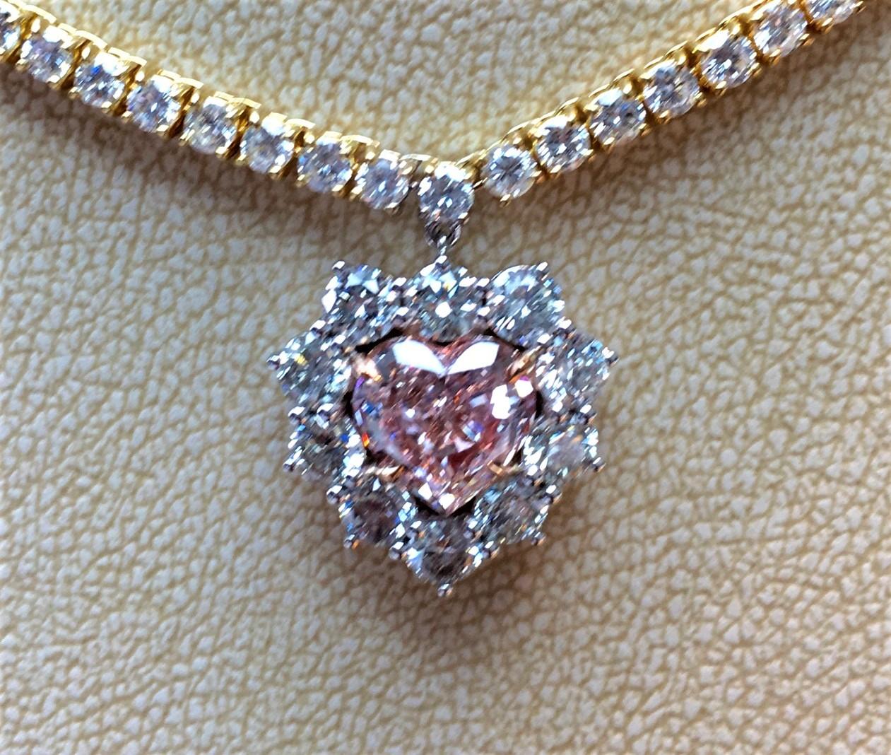 2.37ct Fancy Pink Diamond Pendant (14.44ct TW)