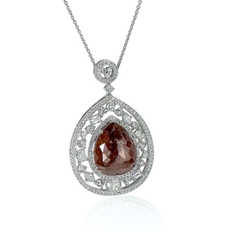 26.61ct Brown-Orange Diamond Pendant (30.91ct TW)