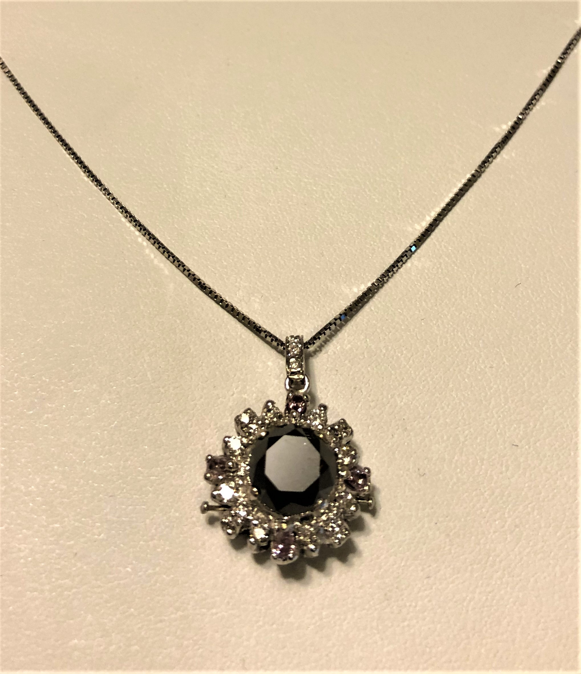 3.44ct Black Diamond Pendant (4.21ct TW estimated)