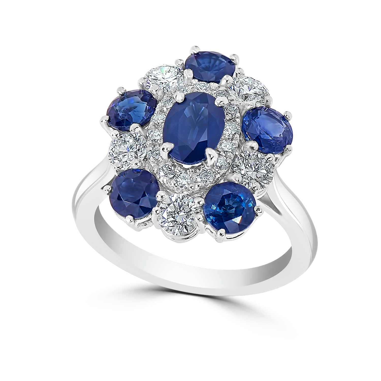 Lady's 1.01ct Sapphire & Diamond Ring (5.14ct TW)